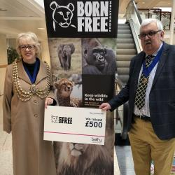 Born Free Foundation Cheque
